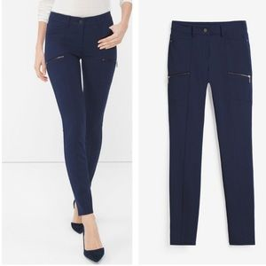 WHBM blue skinny crop pants size 4